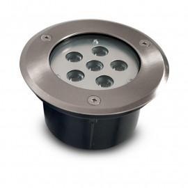 Spot LED Encastrable Sol Rond Inox Ø150MM 6W 230V 3000°K IP67