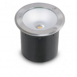 Spot LED Encastrable Sol Rond Inox 3W 230V 3000°K IP67