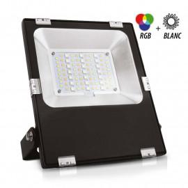 Projecteur Exterieur LED Noir 10W RGB+Blanc
