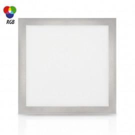 Plafonnier LED Aluminium 295 x 295 15W RGB + Télécommande RF