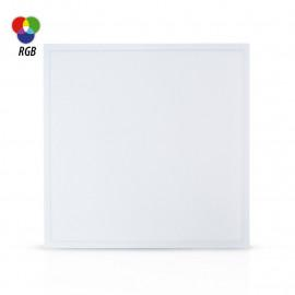 Plafonnier LED Blanc 595x595 40W RGB + Télécommande RF