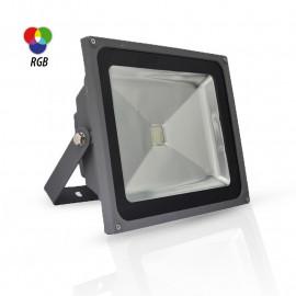 Projecteur Exterieur LED Gris 50W RGB IR