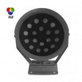Projecteur Exterieur LED Noir 24VDC 46W RGB mono LED NOIR IP65