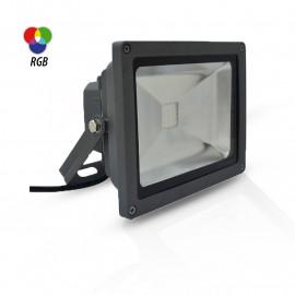 Projecteur Exterieur LED Gris 20W RGB IR