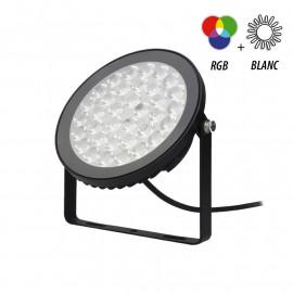 PROJECTEUR EXTERIEUR LED 230V 15W RGB + BLANC