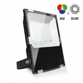 Projecteur Exterieur LED Noir 230V 100W RGB+Blanc IP65
