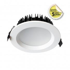 Spot LED fixe blanc rond 28W