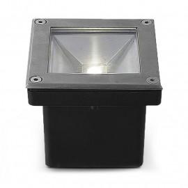 Spot LED Encastre Sol Carré 5W 4000°K Inox 316 L