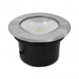 Spot LED Encastrable Sol Rond 3W 4000°K Inox 316 L