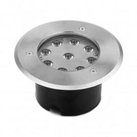 Spot LED Encastrable Sol Rond 9W 3000°K Inox 316 L
