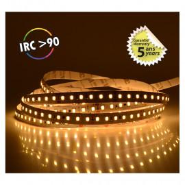 Bandeau LED 3000°K 5 m 120 LED/m 72W IP20  - 24V - GARANTIE 5 ANS