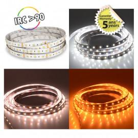 Bandeau LED DIMMABLE CCT 5 m 120 LED/m 48w IP20  - 24V - GARANTIE 5 ANS