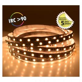 Bandeau LED 3000°K 5 m 60 LED/m 52,5W IP20  - 12V - GARANTIE 5 ANS