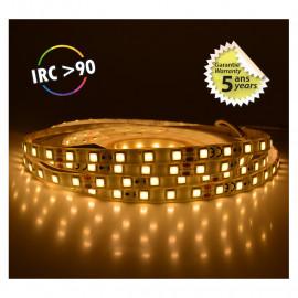 Bandeau LED 3000°K 5 m 60 LED/m 52,5W IP65  - 12V - GARANTIE 5 ANS