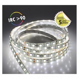 Bandeau LED 6000°K 5 m 60 LED/m 52,5W IP65  - 12V - GARANTIE 5 ANS