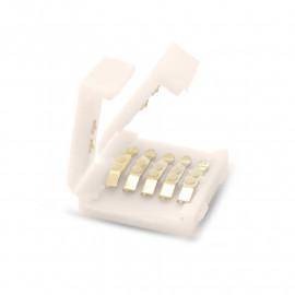 Connecteur Jonction Bandeaux LED RGBW 12V / 24V 12mm pour IP20 Bandeau à Bandeau