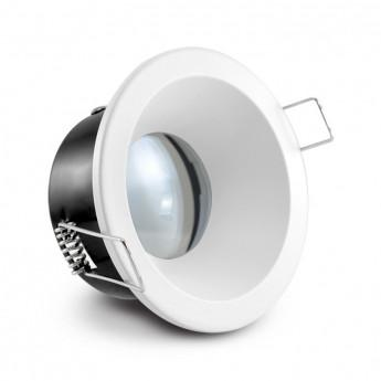 Support de spot Basse Luminance bbc Rond Etanche blancØ85 x 75 mm IP65
