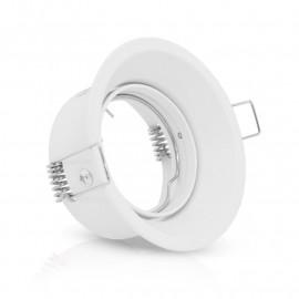 Support de spot basse luminance Rond Rotatif blanc Ø82 x 72 mm IP20