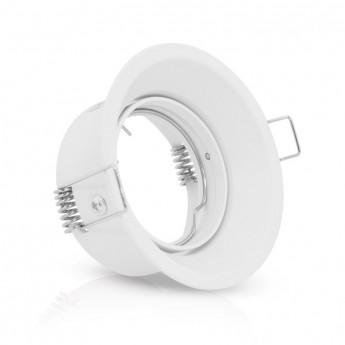 Support de spot basse luminance Rond Rotatif blanc Ø82 x 72 mm IP20