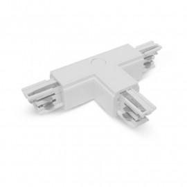 Connecteur Triphase Forme T Circuit Intérieur Droit Blanc