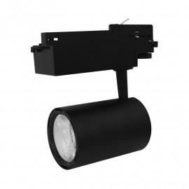 Spot LED sur Rail Noir 25W 4000°K 2300 LM + adaptateur rail 3 allumages