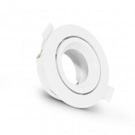 Support plafond Rond Orientable Blanc Ø90 mm