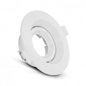 Support de spot basse luminance Rond Orientable blanc Ø110
