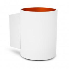 Applique Murale LED GU9 X1 Blanc/Doré Cylindriques