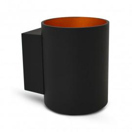 Applique Murale LED G9 X1 Noir/Doré Cylindriques