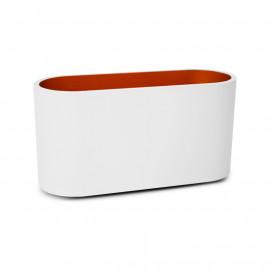 Applique Murale LED G9 X1 Blanc/Doré Cylindrique