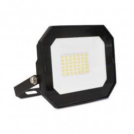Projecteur Exterieur LED Plat Noir 30W 4000K sans câble