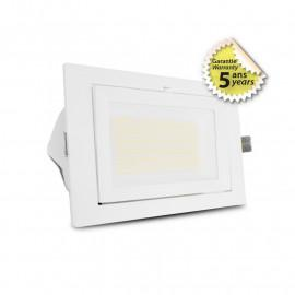 Spot LED Rectangulaire Inclinable avec Alimentation Electronique 32/38W CCT