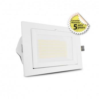 Spot LED Rectangulaire Inclinable avec Alimentation Electronique 32/38W CCT