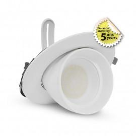 Spot LED Escargot Rond Inclinable et Orientable Blanc 38W CCT