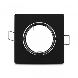Support plafond Carré Orientable Noir 85 mm