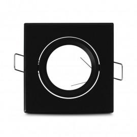 Support plafond Carré Orientable Noir 83 mm
