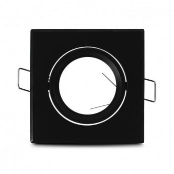 Support plafond Carré Orientable Noir 84 mm