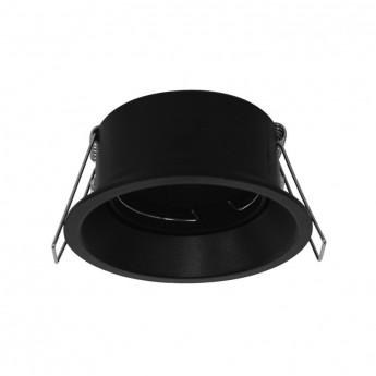 Support de spot BBC Rond Basse luminance noir Ø82mm IP20