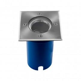 Support de Spot LED Encastrable Sol + Douilles GU10 & GU5.3 Inox 316 L