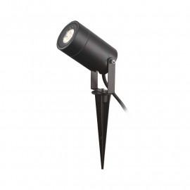 Projecteur Piquet Slim (sans ampoule) 230V GU5.3 Noir IP65