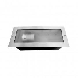 Spot LED Encastrable E27 Rectangle Inox 304
