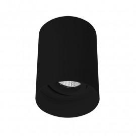 Support de Spot Saillie GU10 (sans ampoule) Cylindre Noir basse luminance