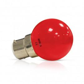 Ampoule LED B22 Couleur Bulb 1W Rouge