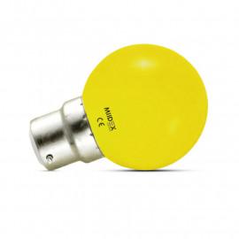 Ampoule LED B22 Couleur Bulb 1W Jaune