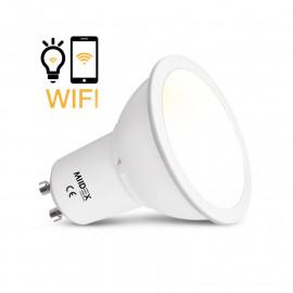 Ampoule LED GU10 Connecté WIFI 5W CCT + Dimmable