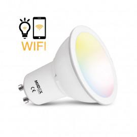Ampoule LED GU10 Connecté WIFI 5W CCT + RGB