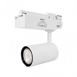 Spot LED sur Rail Blanc 25W 3000K 2200 LM + adaptateur rail 3 allumages