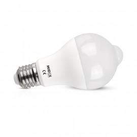 Ampoule LED E27 Bulb 12W 1100 LM 3000K + DETECTEUR DE MVT CREPUSCULAIRE
