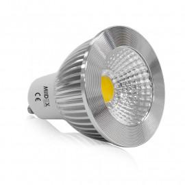 Ampoule LED GU10 COB Spot 5W Dimmable 3000°K Aluminium 75°