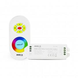 Controleur pour bandeaux LED RGB 12V/24V avec télécommande RF